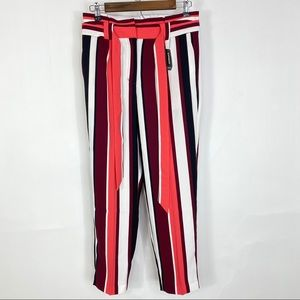Express striped High waisted ankle pants size 4s